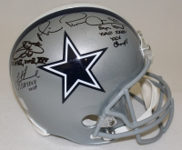 Troy Aikman, Emmitt Smith & Michael Irvin Signed Cowboys Full-Size Helmet With (3) Super Bowl Inscriptions (Aikman, Irvin & Smith Hologram) at PristineAuction.com