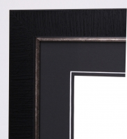 Custom Frame For 11x14 Photo Black And Silver With Double Matting Overall