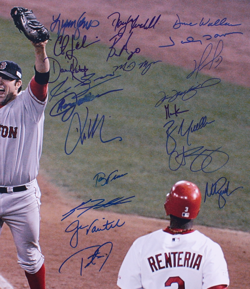 75361975b9d4c 2004 Boston Red Sox Team Signed 20x24 Photo with (22) Signatures Including  Manny Ramirez