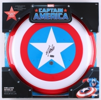 "Stan Lee Signed ""Captain America"" Marvel Authentic Full-Size Metal Shield (Stan Lee Hologram & Radtke COA)"