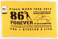 """Hines Ward Steelers """"86 Forever"""" Towel at PristineAuction.com"""