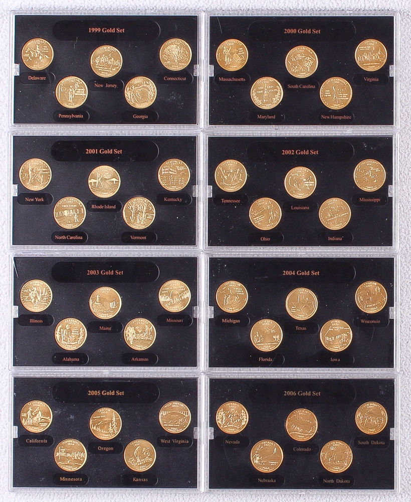 21. 2000 gold edition state quarter collection in special holder and.