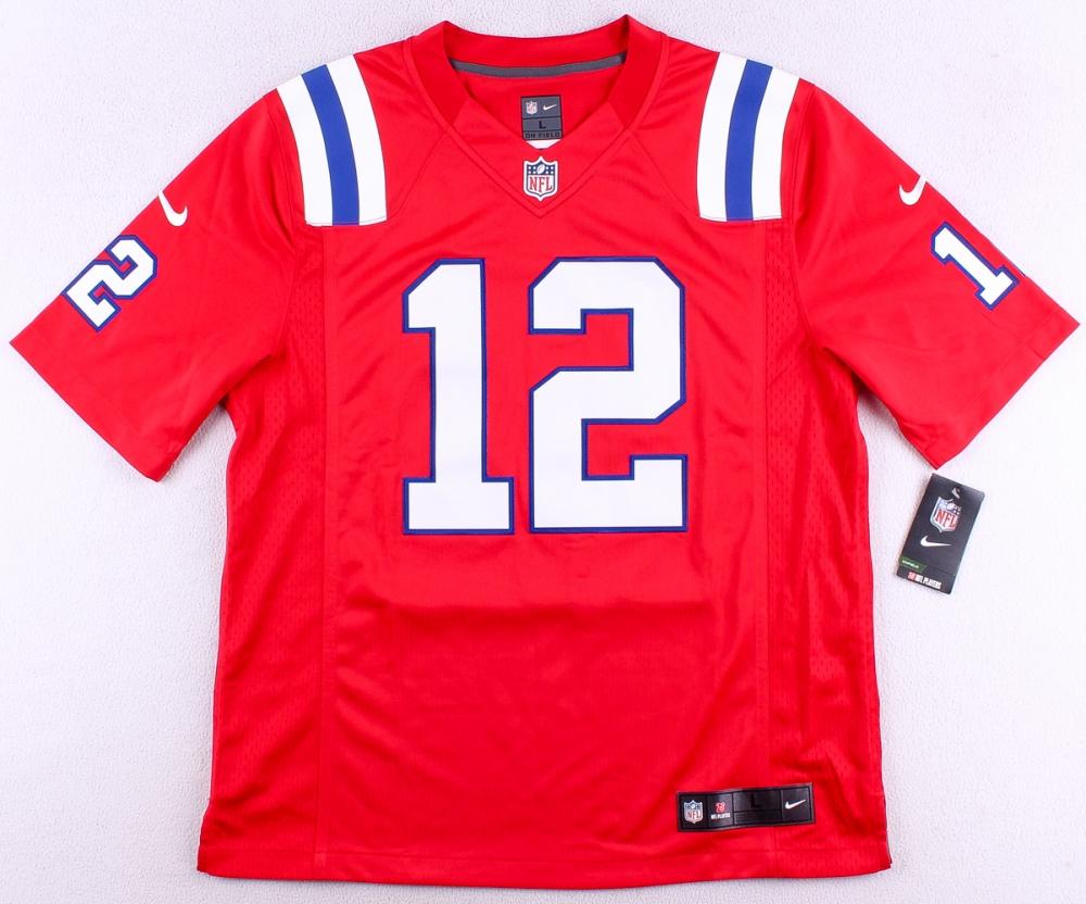 0b278642a34 tom brady nike on field Nike player game jersey
