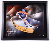 Wayne Gretzky Signed LE Oilers 25x29 Custom Framed Hockey Stick Blade Display (UDA COA)