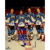 1994 Rangers All-Star Game 16x20 Photo Team-Signed by (4) with Adam Graves, Brian Leetch, Mike Richter & Mark Messier (Steiner COA)