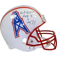 "Earl Campbell Signed Oilers Full Size Throwback Helmet Inscribed ""HT '77"" & ""HOF 91"" (Steiner COA)"
