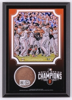 2014 Giants World Series Champions 5x7 Photo Plaque with Authentic Game-Used Dirt from AT&T Park (MLB & Steiner COA) at PristineAuction.com