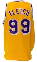"Chevy Chase Signed ""Fletch"" Lakers Jersey (PSA COA)"
