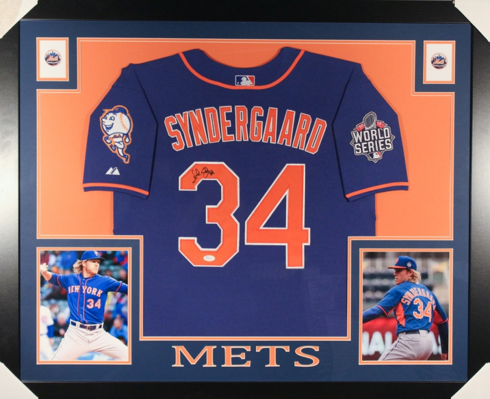 premium selection bff22 266d3 34 noah syndergaard jersey frame