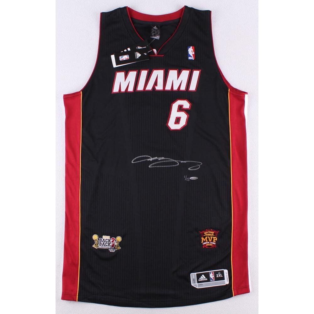 cd9dc690e0d LeBron James Signed Heat Adidas On-Court Jersey with 2013