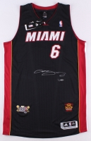 "LeBron James Signed Heat Adidas On-Court Jersey with 2013 ""Back 2 Back"" & ""NBA Finals MVP"" Patches Limited Edition #1/13 (UDA COA)"