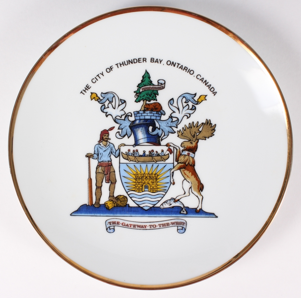 The City of Thunder Bay Ontario Canada  22K Gold Decorative Plate Presented.    sc 1 st  Online Sports Memorabilia Auction | Pristine Auction & Online Sports Memorabilia Auction | Pristine Auction