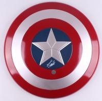 "Stan Lee Signed ""Captain America"" Marvel Full-Size Replica Plastic Shield (Stan Lee Hologram)"
