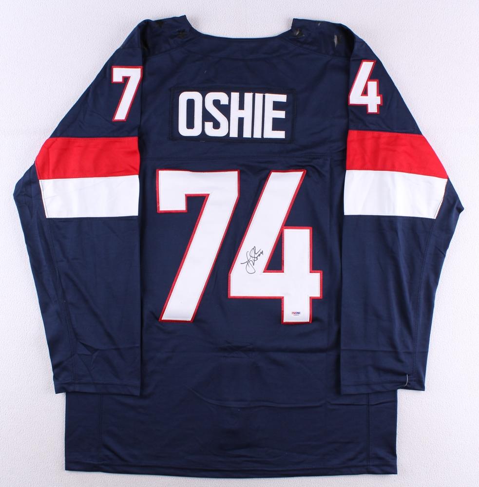 5e676f7c586 T.J. Oshie Signed Team USA Jersey (PSA COA) at PristineAuction.com