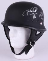 "Ron Perlman & Kim Coates Signed ""Sons of Anarchy"" Biker Helmet Inscribed ""Clay"" & ""Tig"" (Radtke COA)"