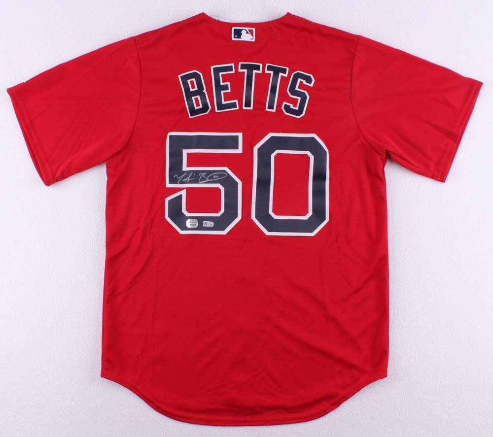 8101baae2c9 Mookie Betts Signed Red Sox Jersey (MLB   Fanatics Hologram) at  PristineAuction.com
