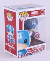 "Stan Lee Signed ""Captain America"" Marvel POP! Vinyl Figure (Radtke COA & Lee Hologram)"