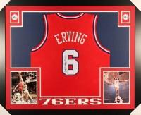 """Julius """"Dr. J"""" Erving Signed 76ers 35x43 Custom Framed Jersey (JSA COA)"""