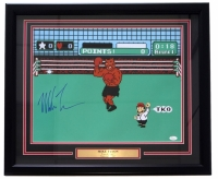 "Mike Tyson Signed ""Punch Out"" 22x27 Custom Framed Photo Display (JSA COA)"