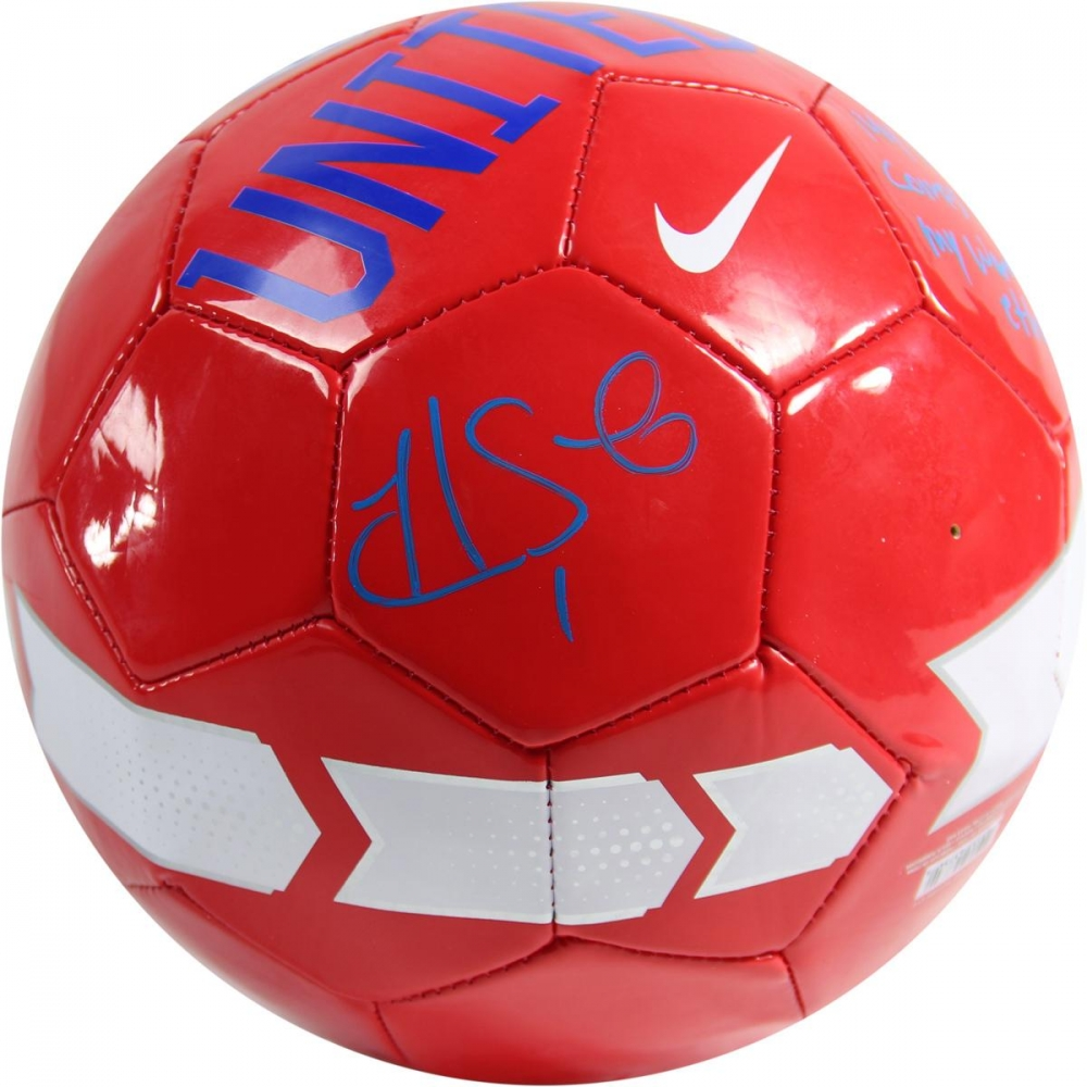 online sports memorabilia auction pristine auction hope solo signed usa soccer ball inscribed my confidence comes from my work ethic