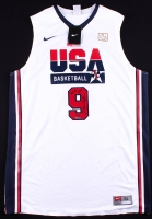 "Michael Jordan Signed LE Team USA Nike Retro Jersey Inscribed ""2009 HOF"" (UDA COA)"