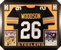 Rod Woodson Signed Steelers 35x43 Custom Framed Jersey (JSA COA)