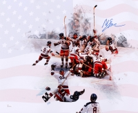 Mike Eruzione Signed 1980 Team USA 16x20 Photo (JSA COA)