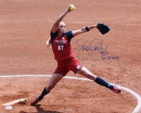 "Jennie Finch Signed Team USA 16x20 Photo Inscribed ""04' US Gold"" (JSA COA)"