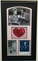 "Lucille Ball & Desi Arnaz Signed ""I Love Lucy"" 16x27 Custom Framed Photo Display Inscribed ""Love"" & ""Gracias"" (JSA LOA)"