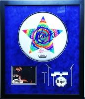 Ringo Starr Signed The Beatles 24x28 Custom Framed Drumhead Display (JSA LOA)