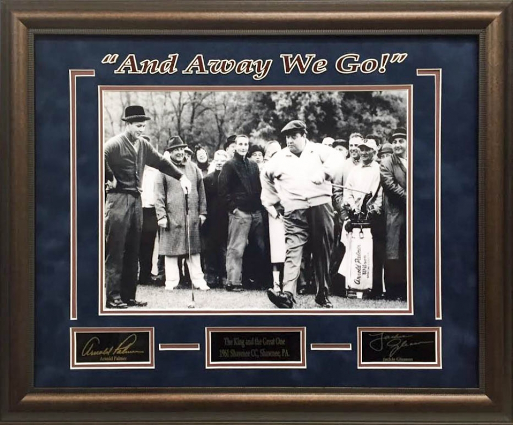 Online sports memorabilia auction pristine auction arnold palmer jackie gleason and away we go 19x23 custom framed photo display jeuxipadfo Images