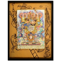 "Raphael Abecassis Signed ""Menorah"" Limited Edition 15x19 3-Layer Decoupage"