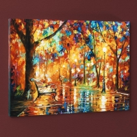 "Leonid Afremov Signed ""Burst of Autumn"" Limited Edition 24x18 Giclee on Canvas"