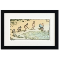 "Dan Piraro Signed Bizarro! ""Evolution Trash"" Framed Limited Edition 22x15 Giclee on Paper"