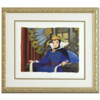 "Toby Bluth Signed ""Face of Evil"" Custom Framed LE 20x23 Giclee from Disney"