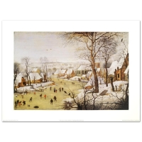 """Winter Landscape with Skaters and Bird-Trap"" by Pieter Brueghel the Younger at PristineAuction.com"