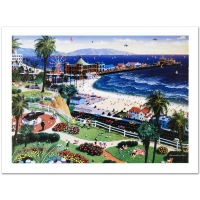 "Alexander Chen Signed ""Santa Monica"" Limited Edition 21x15 Lithograph"