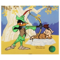 "Chuck Jones Signed ""Robin Hood: Bow & Error"" Sold Out! Limited Edition 10x12 Animation Cel"