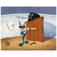 "Chuck Jones Signed ""Bugs and Gulli-Bull"" Sold Out Limited Edition 13x16 Animation Cel"