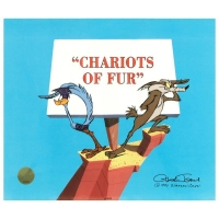 "Chuck Jones Signed ""Chariots of Fur"" Sold Out Limited Edition 12x10 Animation Cel at PristineAuction.com"