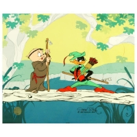 "Chuck Jones Signed ""Buck and a Quarter Staff"" Sold Out Limited Edition 16x13 Animation Cel"