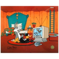 "Chuck Jones Signed ""Just Fur Laughs"" Sold Out Limited Edition 16.5"" x 13.5"" AP Animation Cel with Hand Painted Color at PristineAuction.com"