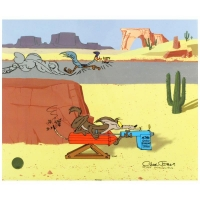 "Chuck Jones Signed ""Acme Road Runner Spray"" Sold Out Limited Edition 13x16 Animation Cel with Hand Painted Color at PristineAuction.com"