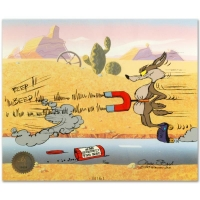 """Chuck Jones Signed """"Road Runner and Coyote: Acme Birdseed"""" Limited Edition 10x12 Animation Cel at PristineAuction.com"""