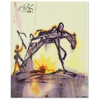 "Salvador Dali ""The Horse of Labor"" Sold Out Limited Edition 8x10 Glazed Ceramic Tile"