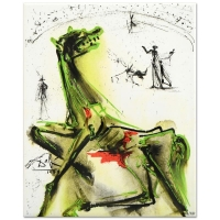 "Salvador Dali  ""Victim of Festivities"" SOLD OUT Limited Edition 8x10 Glazed Ceramic Tile"