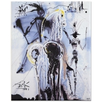 """Salvador Dali """"Don Quixote"""" Signed Sold Out Limited Edition 8x10 Glazed Ceramic Tile"""