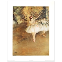 """""""Two Ballerinas"""" Fine Art 26x33 Print by Degas at PristineAuction.com"""