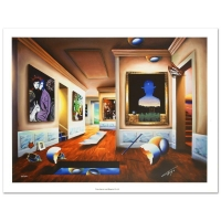 """Ferjo Signed """"Interior with Magritte"""" Limited Edition 40x30 Giclee on Canvas at PristineAuction.com"""