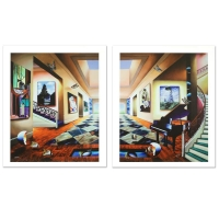 "Ferjo Signed ""Perfect Afternoon"" Limited Edition 24x30 Giclee Diptych on Canvas at PristineAuction.com"